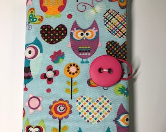 Fabric Covered Pocket Calendar // Refillable 2020 Planner Organizer // For Her // Under 10 // Handmade Gift Idea for Purse Desk // Owls