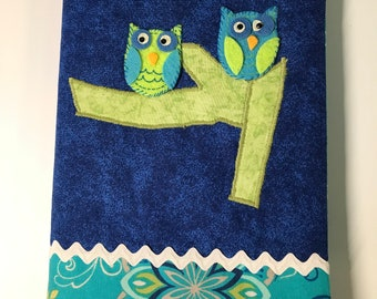 OWL Address Book // Handmade Hand Embroidered Owl // Internet Password Book Cover // For Her // Under 20 // Stocking Stuffer // Teens Tween