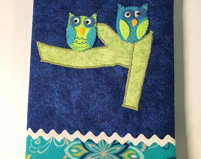OWL Address Book // Handmade Hand Embroidered Owl // Internet Password Book Cover // For Her // Under 20 // Stocking Stuffer // Teens Tween