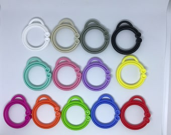 Silicone STROLLER CLIP Singles // Toy Clip / // Toy Hanging // Stroller Clip // Toy Making // DIY // Baby Teething // You Choose