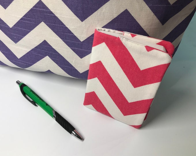Fabric Covered Notebook // Notebook Cover // 3x5 notebook // For Her // Under 5 // Purse Accessory Gift Idea // Car Care // Stocking Stuffer
