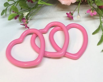 Hard Plastic Heart  // Toy CLOSEOUT // Stroller Toy // Birthday Party Favor //  Baby Toys // Toy Making Parts // Baby Teething // Handmade