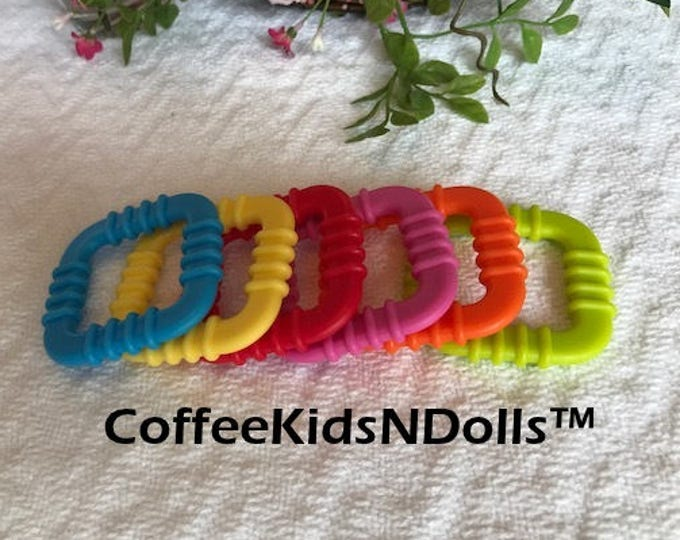 Square Teething Ring // Baby Teether Toy // Teething Ring Toy // Baby Toys // Toy Making Parts // Sew In Teether // Handmade Baby