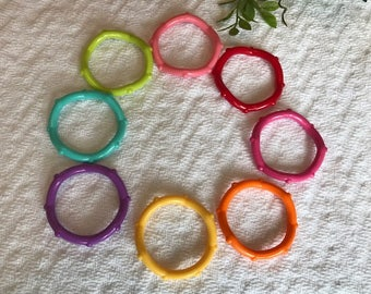 Hard Plastic Knobby Rings // Clink Rings // Plastic Rings // Baby Toys // Teething Toy // Toy Making Parts // Baby Teething // Handmade Baby
