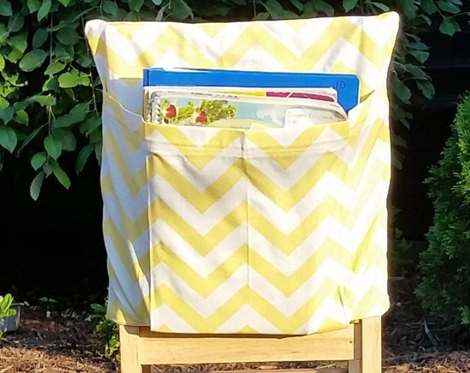 Preschool Classroom  // Seat Sacks // Storage  <<12 inch VALUE>> Yellow Chevron // Day Care // CLOSEOUT