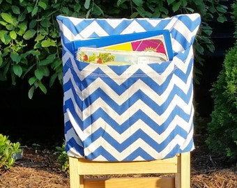 Preschool Chair Pockets // Preschool Storage //12 inch VALUE // Daycare Day Care // Cobalt Blue  // Book Storage // CoffeeKidsNDolls
