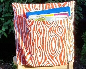 Chair Pockets // 16 inch VALUE // Orange Willow //  Teacher Classroom // Organization // Kindergarten Elementary School  //Expandable Pocket