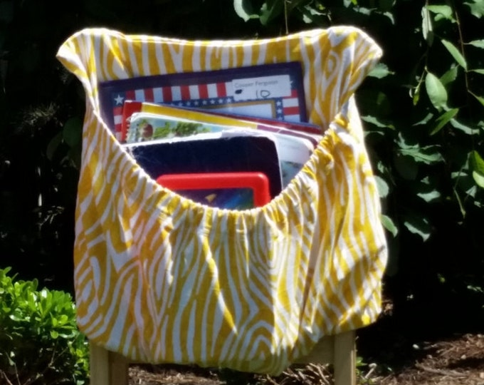 16 inch // Yellow WILLOW // Chair Pockets // Seat Sacks // PREMIUM // Closeout