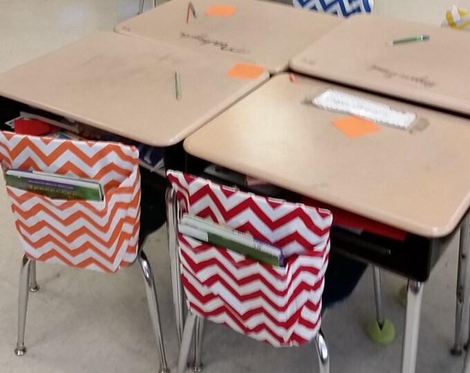 TABLESS DELUXE // Chair Pocket SETS 4 Classroom / Teacher Classroom Organization // Seat Sacks // Kindergarten // You Choose // Chevron Duck