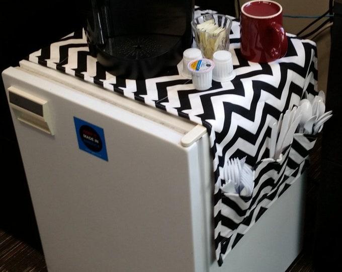 46  Inch Dorm Room Table Runner Pocket Organizer Fridge Refrigerator Storage Pouch High School Graduation College Gift Idea CoffeeKidsNDolls