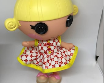 Handmade Dress for Lalaloopsy Little Doll // Little Sister // Doll Clothes// Under 10 // For Girls // Checks