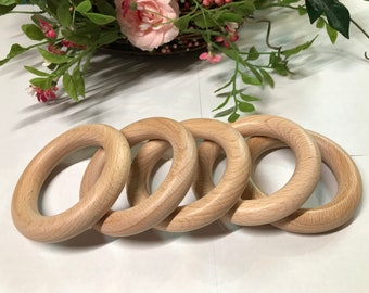 2.75 Inch BEECH WOOD Ring // 70 mm Ring // Beechwood // Natural Wood Ring // Teething Toy // Baby Ring // Organic // DIY Sewing