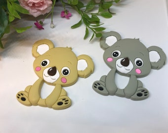Koala Teether // Silicone Teether Pendant // Handmade Baby // Teething Toys Chew // Food Grade Silicone // BPA Free // Limited Edition