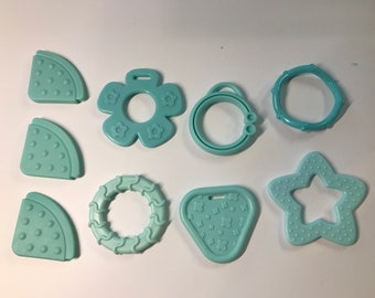 AQUA // Silicone Baby Teething Shapes // Silicone Teething // For Baby // Sensory Toys // Teething Toys // Teething Blankets