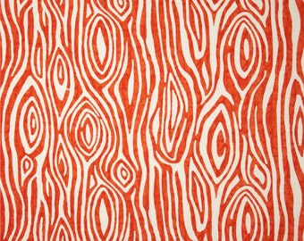 Orange WILLOW Duck Cloth //  Premier Prints Inc // Upholstery Sewing Fabric // Tree Rings