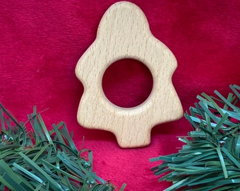 Sale PINE TREE Shape // Christmas Tree Holiday // Wood Animal Shapes // Wooden Teether // Beech Wood Baby Shapes // Eco Friendly