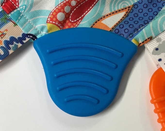 XL Silicone Corner Teether // Silicone Bell Corner // Baby Bibs Elderly Special Needs // Toy Making // Handmade Sew On  // BPA Free