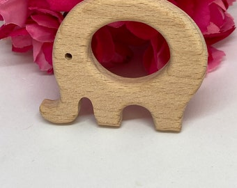 ELEPHANT zoo safari animal Wood Shape // Wood Animal Shapes // Wooden Teether // Wooden Animal Toys // Wood Baby Shapes // Eco Friendly