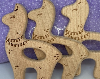beech wood fancy LLAMA <75> animal shape toy for baby