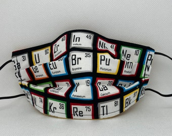 Sale Periodic Chart Fabric Face Mask // Nerdy Chemist Science lovers Mask // ReAdY 2 sHiP //  Periodic Table of Elements