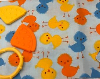 Taggie Blanket Kit // Lovey Tag Blanket // Minky Cuddle Toy // Security Blanket // Easter Basket Gift Idea For Baby Shower // Ducks