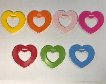 Heart Ring Sampler  // Sensory Baby Teething Ring // Heart Shaped Toys // Baby Teething // Sew In Toys // Baby Gifts // Baby Toys