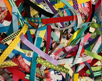 Ribbon Pieces for Taggie Toys // Ribbon Scraps // Ribbon Assortment // You Choose // DIY Sewing // Handmade Baby