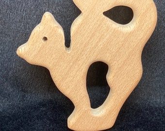 KITTY CAT  Wood Shape / Wood Animal Shapes // Beech Wood Baby Shapes // Eco Friendly
