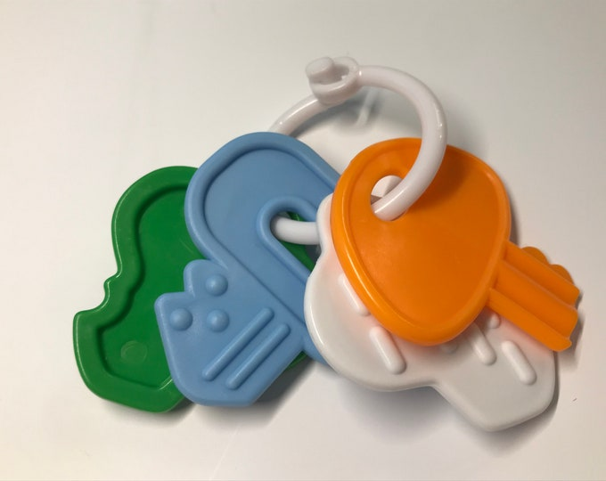 Silicone KEY Sampler // Teething Toy // Stroller Toy // Birthday Party Favor //  Baby Toy Teething Toy // Toy Making Parts // Baby Teething