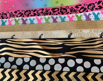 Box of Ribbons // 80 yards // 1 yard pieces // DIY Handmade / Sewing Projects // Crafts // Hairbows
