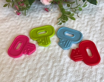 Silicone KEY Singles // Stroller Toy // Birthday Party Favor //  Baby Toys // Teething Toy // Toy Making Parts // Baby Teething // Handmade