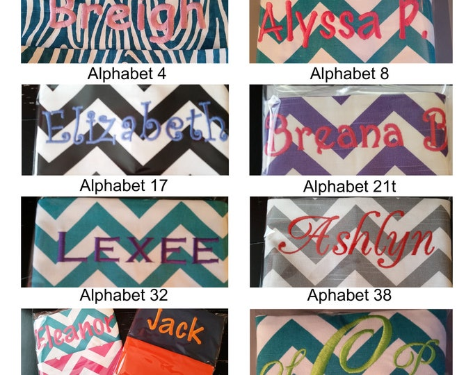 EmBrOiDeReD Chair Pockets // You Choose The Style //  School Supplies // Elementary School // Seat Sacks // Chevron or Solid Color Duck