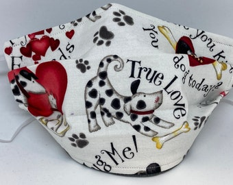 Dog Themed Fabric Face Mask //Puppy Dog Novelty Mask // ReAdY 2 sHiP //  Dog Lover // Green Dog // Dogs //  ~~ True Love / My Best Friend ~~