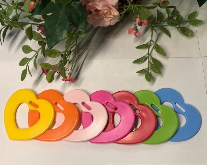 Featured listing image: Silicone Heart Rings  // Baby Teething Ring // Heart Shaped Toys // Silicone Baby Teething Toys // Valentines for Baby  // Craft Supplies