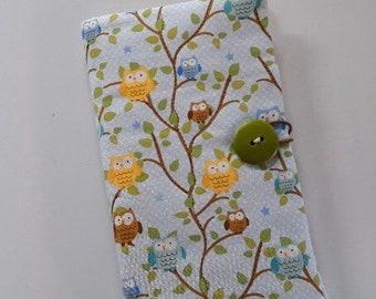 Fabric Covered Pocket Calendar // Refillable 2020 Planner Organizer For Her // Under 10 Handmade Gift Idea for Purse Desk / Tiny Owls