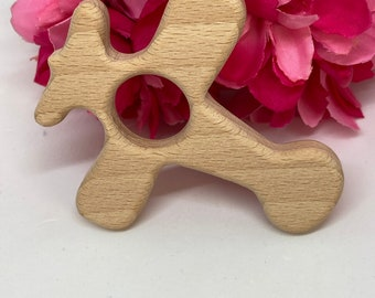AIRPLANE zoom Beech Wood // Wood Animal Shapes // Wooden Teether //  Wood Shape // Eco Friendly