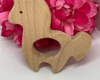 UNICORN pretend play princess  Wood Shape / Wood Animal Shapes / Wooden Teether // Wooden Animal Toys // Wood Baby
