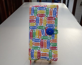 Fabric Covered Pocket Calendar // Refillable 2020 Planner Organizer For Her // Under 10 Handmade Gift Idea for Purse Desk / Paperclips