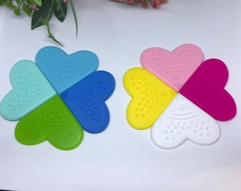 XL Silicone Corner Teether // Silicone Heart Corner // Baby Teething // Toy Making // Handmade Sew On  // Food Grade Silicone // Limited