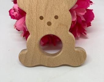 HONEY BEAR Wood Shape / Wood Animal Shapes / Wooden Teether // Wooden Animal Toys // Wood Baby Shapes // Eco Friendly