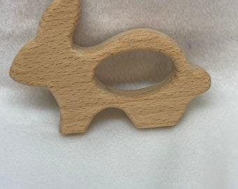 BUNNY Rabbit Wood Shape // Wood Animal Shapes // Wooden Teether // Wooden Animal Toys // Wood Baby Shapes // Eco Friendly