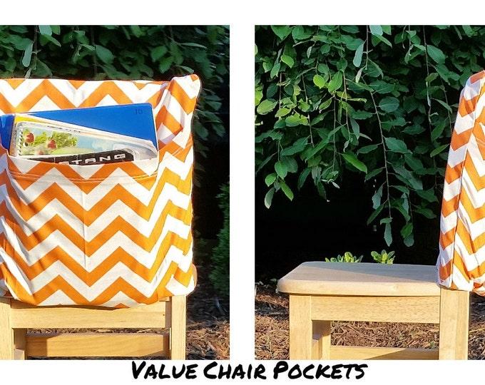 READY 2 SHIP Chair Pockets // 16 inch VALUE // Orange Willow // Teacher Classroom Organization // Kindergarten 1st Grade 2nd 3rd Grade Size