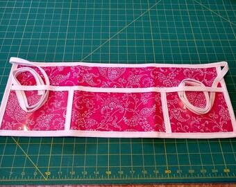 Utility Apron // Pink Floral // Teacher Apron // Clear Pocket Apron // Craft Apron //Teacher Gift // Gift Idea // Under 25