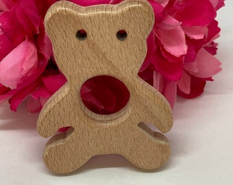 Teddy Bear holiday  Wood Shape / Wood Animal Shapes / Wooden Teether // Wooden Animal Toys // Wood Baby