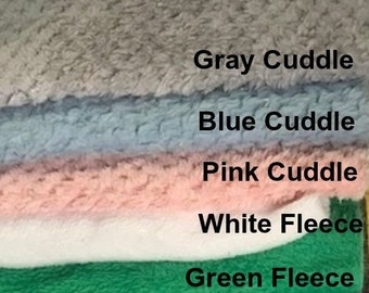 Minky Cuddle Fleece // Squares 12 x 12 for Crafts // DIY Handmade / Sewing Projects // Taggie Blanket // Lovey // Crafts