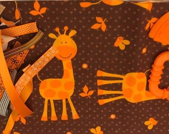 Taggie Blanket Kit // Lovey Tag Blanket // Minky Cuddle Toy // Security Blanket // Easter Basket Gift Idea For Baby Shower // Giraffe