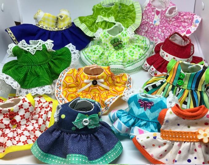 Handmade Dress for Lalaloopsy Littles Sisters // Small Lalaloopsy Doll // Small Doll Clothes