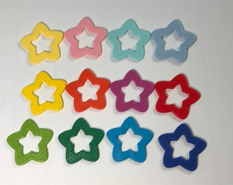 Baby STAR Ring Sampler // Star Shaped Baby Toys // Baby Teething // Toy Star Chew // Teething Toys // Baby Toys // Baby Star Ring