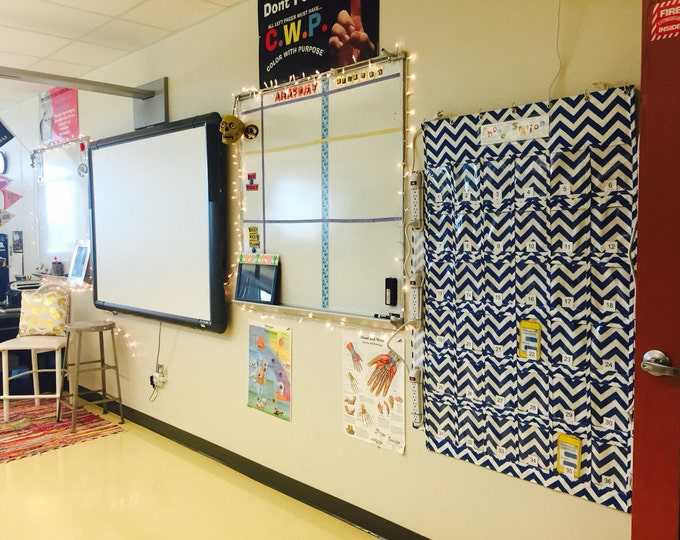 Charging Station Student Cell Phone Telephone Pockets Teacher Classroom Management Organizer Hanging High School Storage Station Door Wall