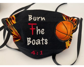 Fabric Face Mask Texas Tech BaSkEtBaLL Inspired // Fabric Mask / Red Raiders TTU Mask // Burn the Boats // Washable Reusable